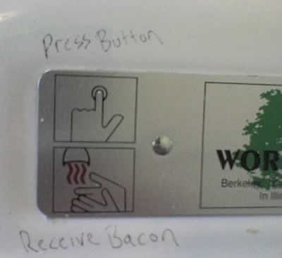 Graffiti Hand Dryer Bacon